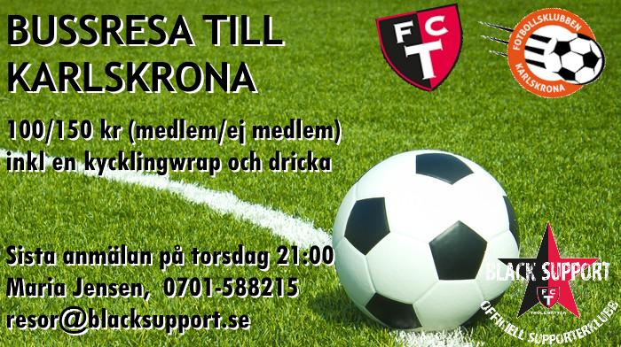 Buss till Karlskrona
